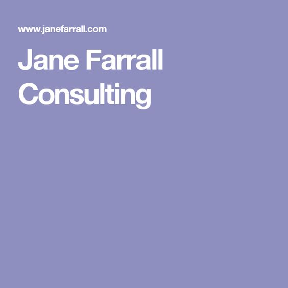 Jane Farrall Consulting