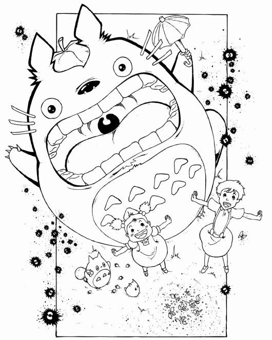Studio Ghibli Coloring Book Elegant Top 9 Coloring Of My Neighbor Totoro For Small In 2020 Coloring Books Coloring Pages Anime Crafts