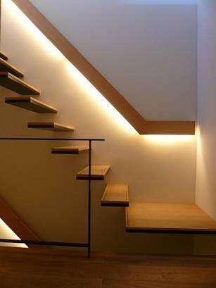 階段 足元照明 手すり 間接照明