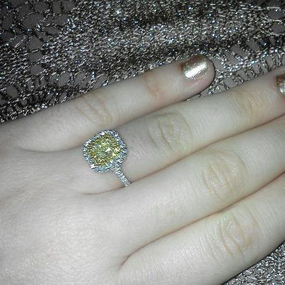 Yellow Diamond double halo!  I love my fiance!