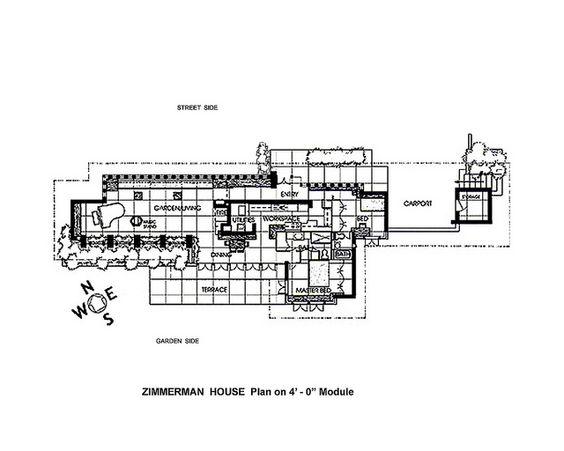 frank lloyd wright home and studio floor plan FrankLloydWright
