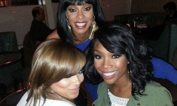 Lauren London on set of The Game with Tasha Smith and Brandy ...