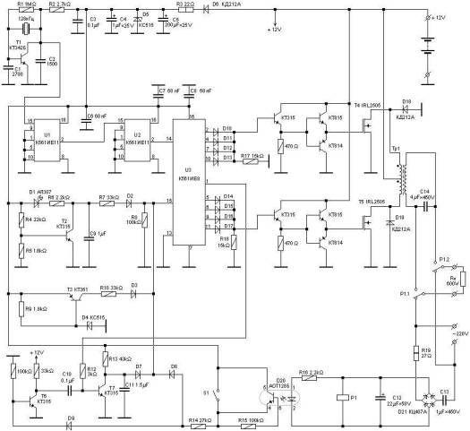600 Watts Ups Circuit Electrical Circuit Diagram