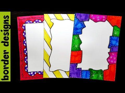 Youtube Colorful Borders Design Border Design Page Borders Design