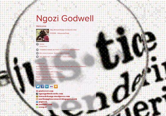 Ngozi Godwell's page on about.me – http://about.me/ngozi.godwell @wainewarren