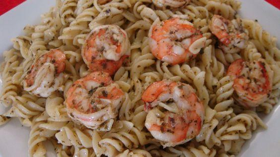 Shrimp Pesto Fusilli