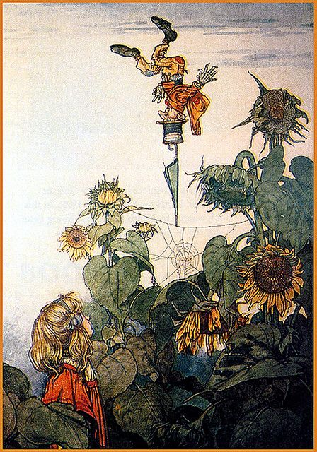 Vintage Fairy Illustration--W. Heath Robinson--Wacky Imp Upside Down