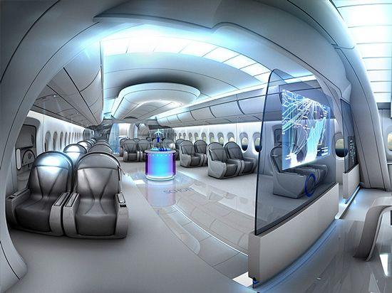 Futuristic Train Interior future private jets an...