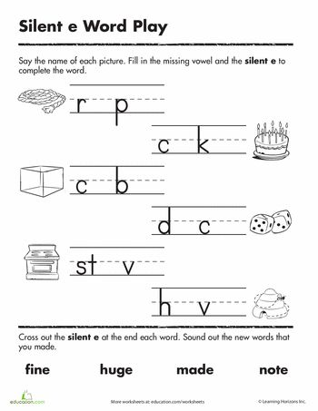 Printables Vowel Consonant E Worksheets literacy stations and worksheets on pinterest silent e word play