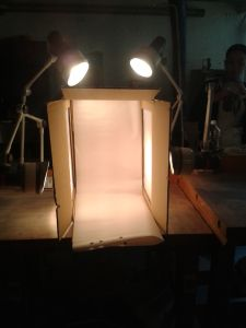 DIY light box! The look of professional photos at a fraction of the cost. Image credit: Chelsea Kerrigan