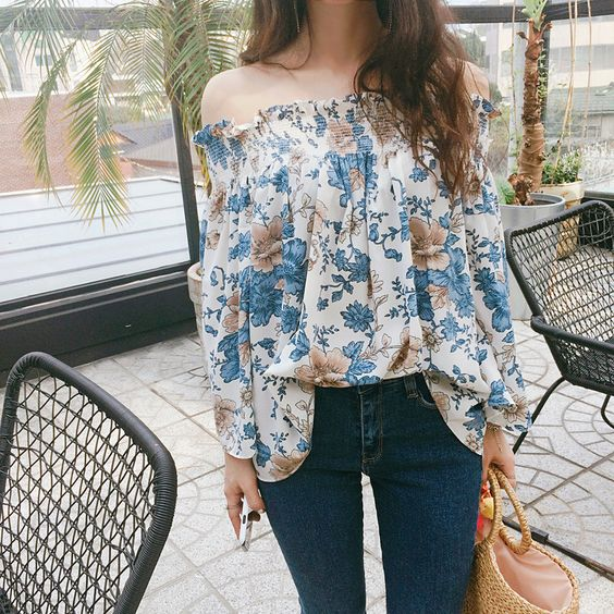 Show off some skin in this sexy yet subtle off-the-shoulder blouse!