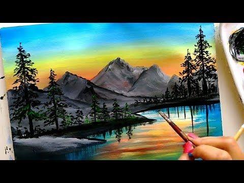 Picturesque Mountain Landscape Painting Scenery Painting Acrylic Painting Tutoria Mountain Landscape Painting Scenery Paintings Landscape Paintings Acrylic