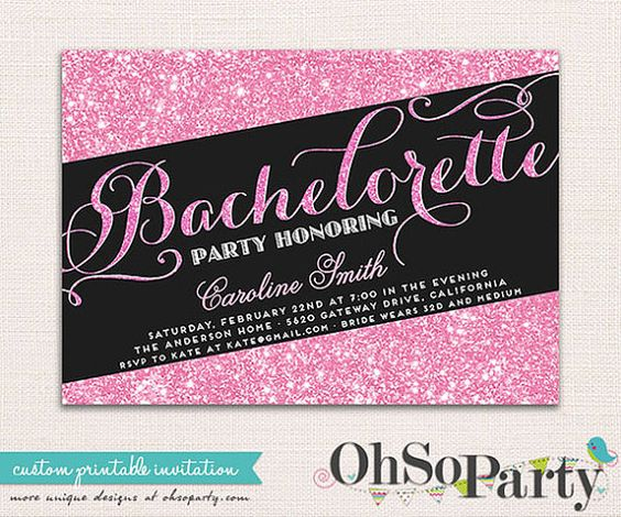 Introducing SPARKLE & SHINE custom printable bachelorette invitation, designed to make your pre wedding party all the more special and unique!    With