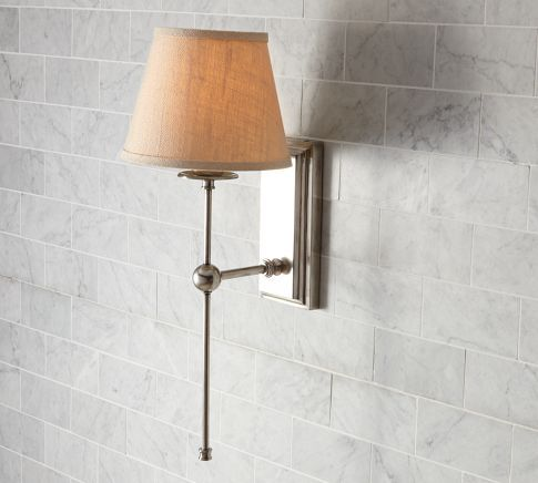*Steiner single sconce with bleached shades...times two...