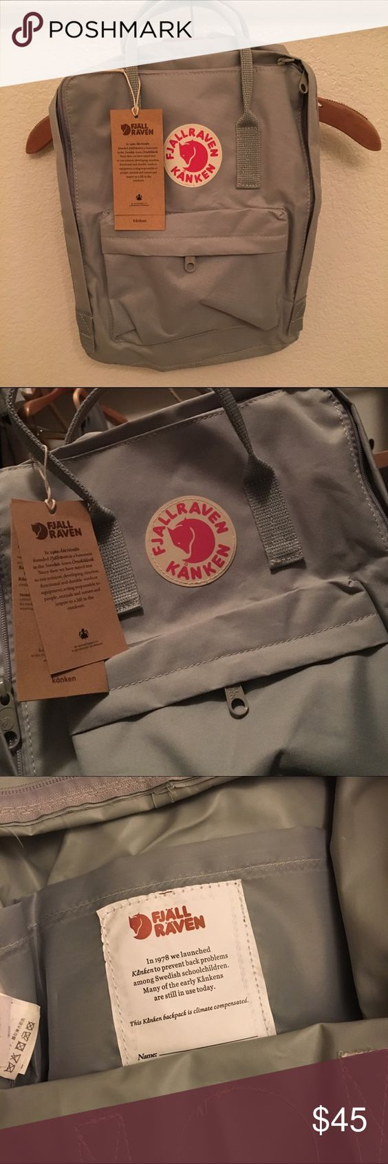 kanken backpack Perfect dupe! Cant tell the difference from my authentic one. Brand new, never used. This is the classic size! Same measurements, same material! Fjallraven Bags Backpacks
