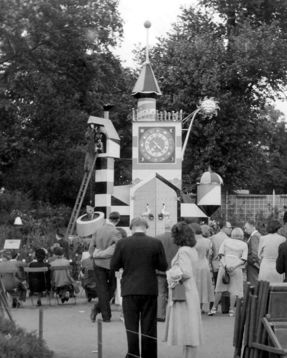 The gardens were in the northern part of Battersea Park, which had been transformed as part of the Festival of Britain. Among its features, were a tree walk and the popular Guinness clock (pictured) which displayed mechanical versions of the characters from the brewer's advertisements. There was also the 'Far Tottering and Oyster Creek Branch Railway' and a fun fair, with the 'Big Dipper' rollercoaster being one its most popular attractions. This was closed down after a serious accident in ...