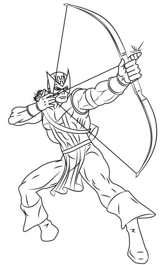 Avengers Hawkeye Coloring Page Avengers Coloring Avengers Coloring Pages Marvel Coloring