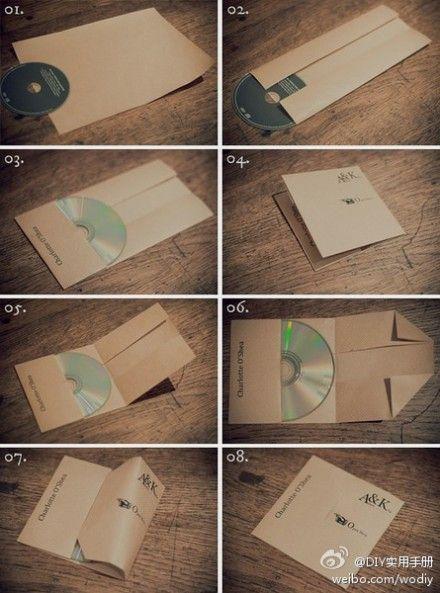 CD packaging - DIY envelope #carepackage #gift #mail