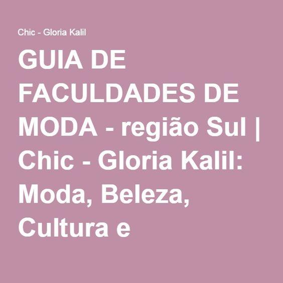 GUIA DE FACULDADES DE MODA - região Sul
