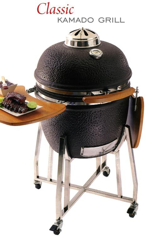 My new Kamado grill. Like the Big Green Egg, but without the Big ...