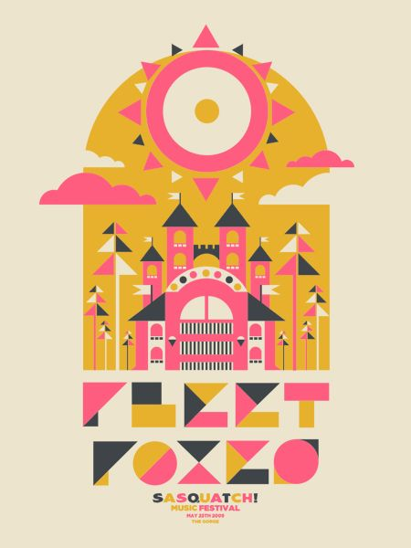 Gig poster for Fleet Foxes.