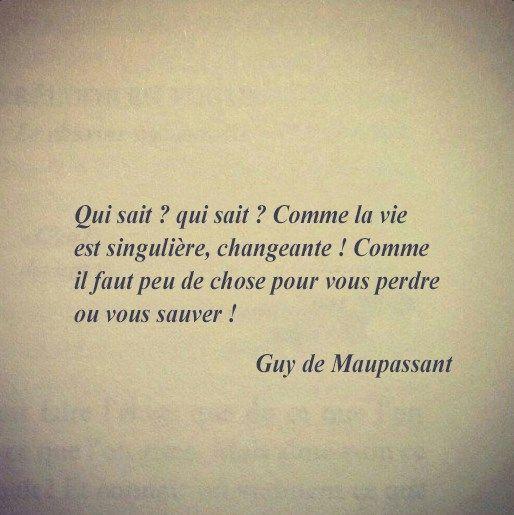 Guy De Maupassant Citations Sympa Citation Et Poeme Et