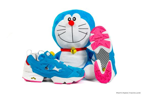 "Packer x atmos x Reebok Insta Pump Fury ""DORAEMON"":"