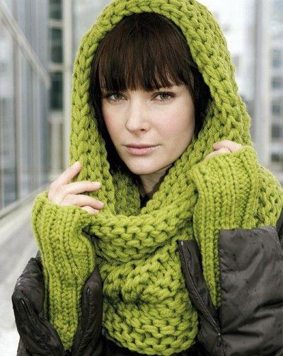 modele tricot echarpe et bonnet femme