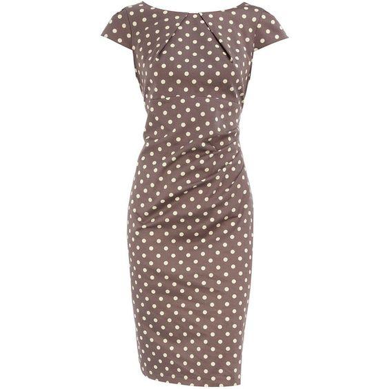 Taupe drape side dress