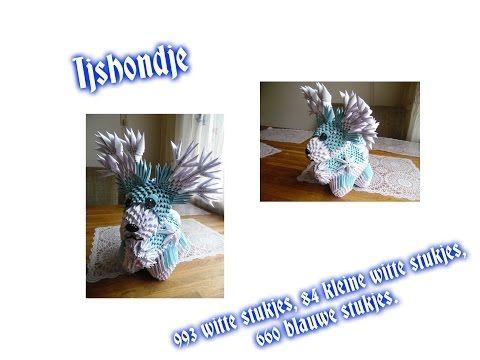3d origami ijshondje - YouTube