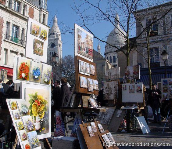 Montmartre in Paris in Frankreich