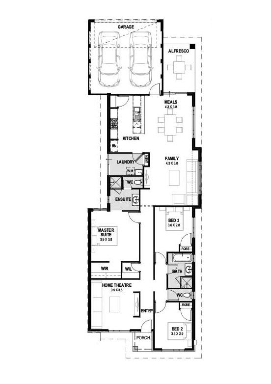 My Santorini New House Designs Perth Single Storey Home Design Narrow Lot Homes Plans Perth House Design Simple House Design House Plans