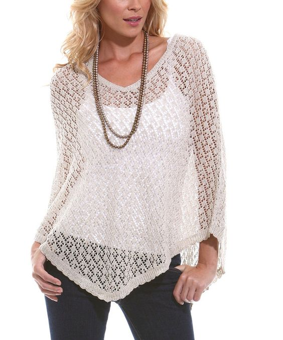Look what I found on #zulily! Champagne Bora Bora Poncho by TS Knits #zulilyfinds