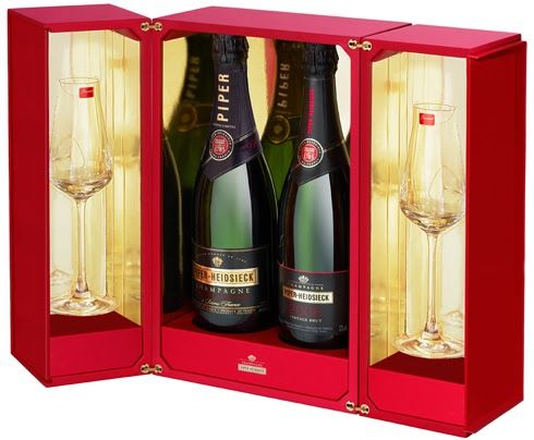 Coffret Vintage Piper-Heidsieck & Baccarat design by QSLD