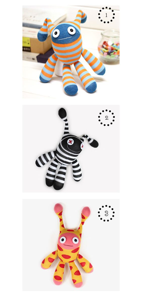 DIY Handmade Sock Doll Kit with detailed English color instruction manual D003