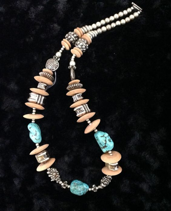28 One of a Kind Necklace with Toggle Closure.
