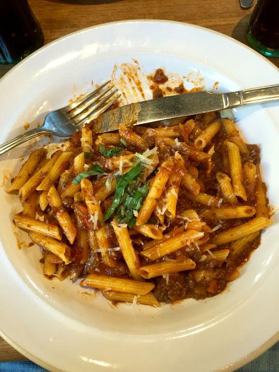 Spag Bol at Bella Italia - a good option on the move Gluten Free - free bol