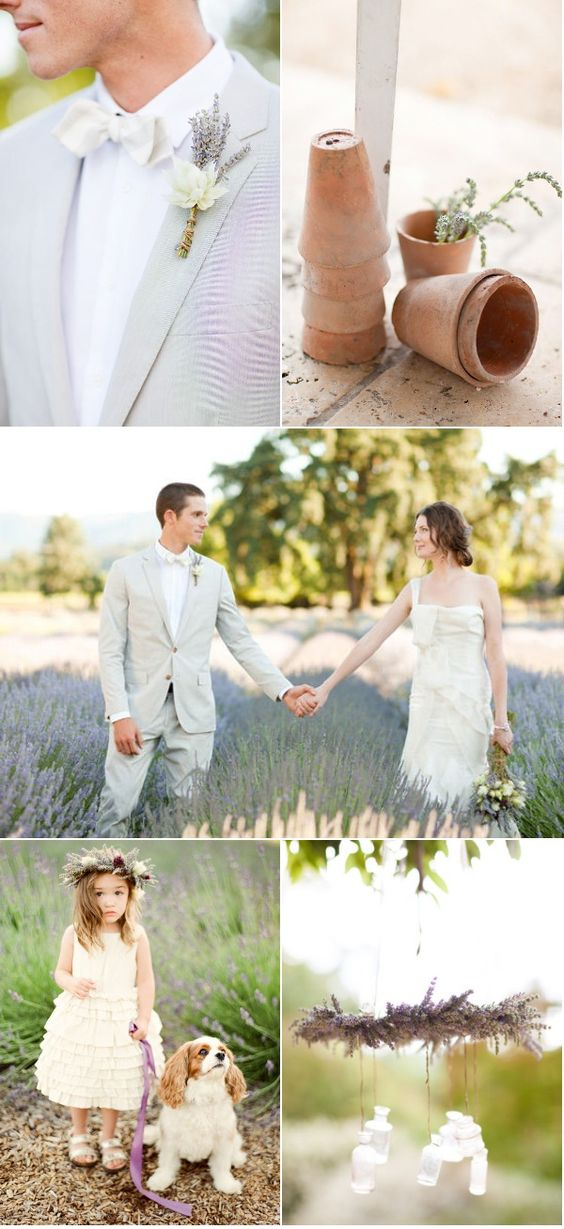 Love this lavender themed wedding.