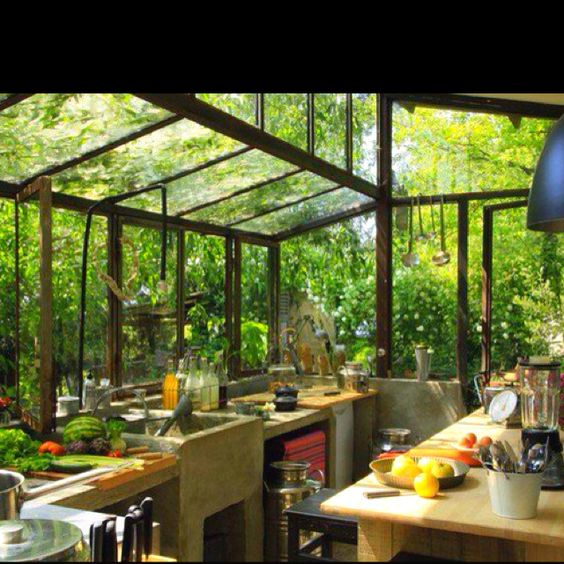 Greenhouse Kitchen. I could spend all day in there...