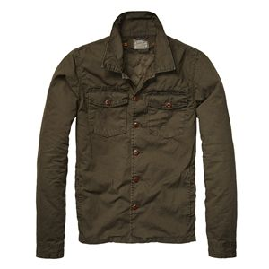 Scotch And Soda - Men's Army Green Shirt Jacket with Detachable ...