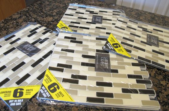 Easy kitchen update using Smart Tiles from Home Depot from Pocketful of Joules