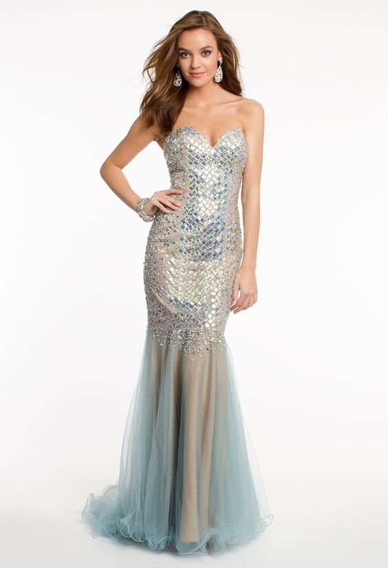 Jersey and Tulle Dress - Mermaids- Prom and Prom dresses
