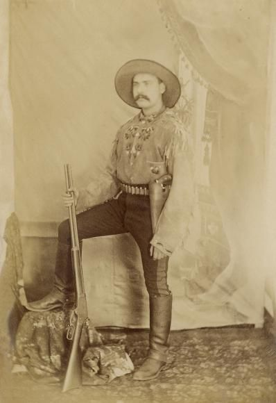 An Arizona cowboy, photo taken by Remington in 1886, Arizona Territory: