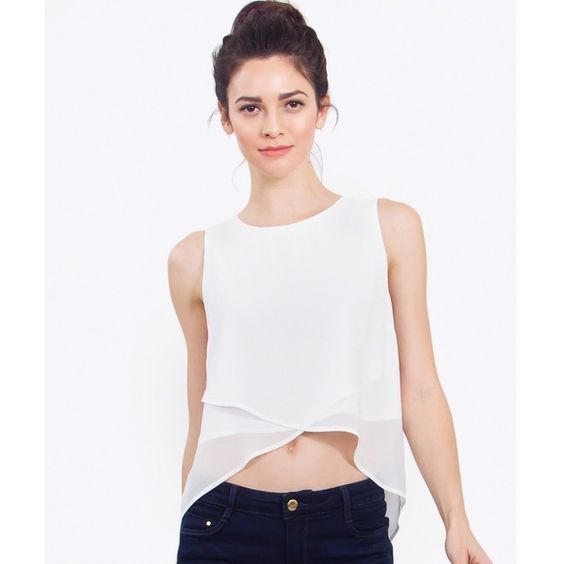 Chiffon Sheer Layer Top Beautiful layered sheer chiffon top. Front overlap detail. Back slit detail. Zipper closure. High low hem. Partially Lined. 100% polyester.     ▶️Colors: White  ▶️Sizes: XS, Small, Medium, Large.     ▶️Also available in Packs of 4                              NO trades.  NO offers   Price is FIRM unless bundled Sugarlips Tops Blouses