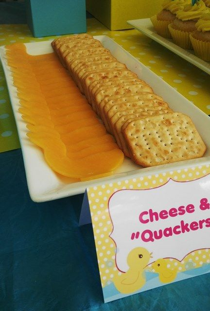 Rubber Ducky Cheese & Quackers
