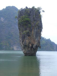 James Bond Island - Phuket, Thailand:  this is the actual island that has had a castle photoshopped on top.  Then it is falsely labeled as being outside Dublin, Ireland.  Silly People