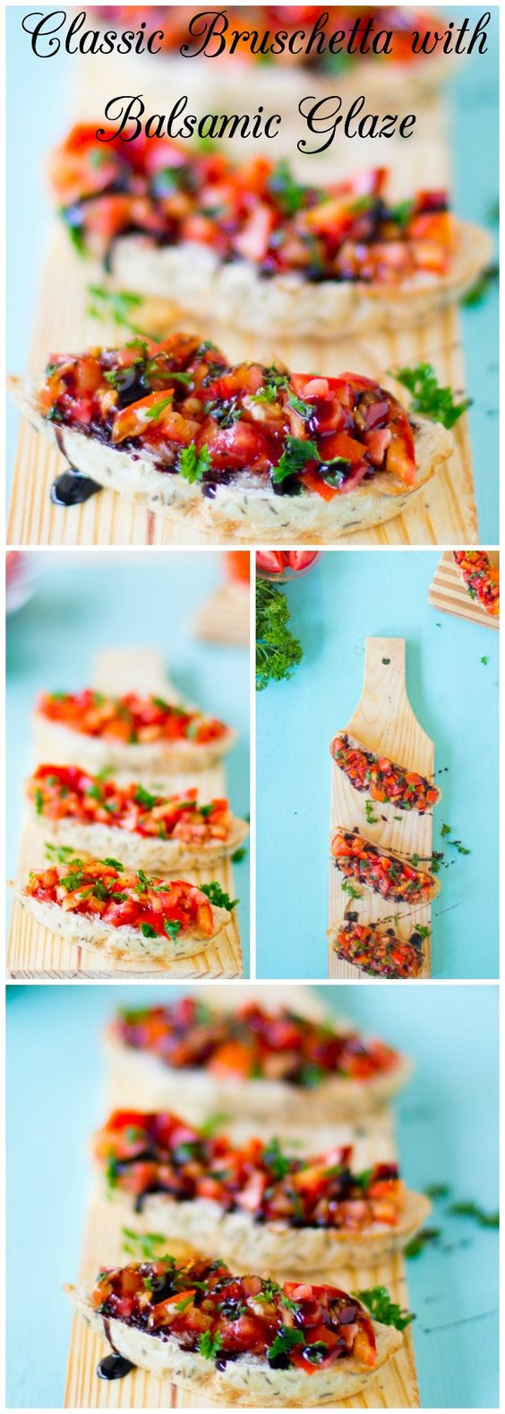 .~Loaded with fresh, juicy tomatoes, this classic Bruschetta with Balsamic Glaze is the perfect appetiser for hot summer days~. @adeleburgess