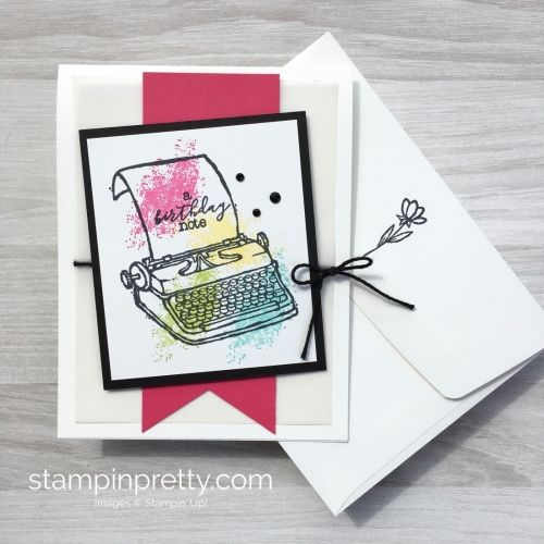 Rainbow Typewriter Birthday Card Birthday Cards Simple Birthday Cards Cards