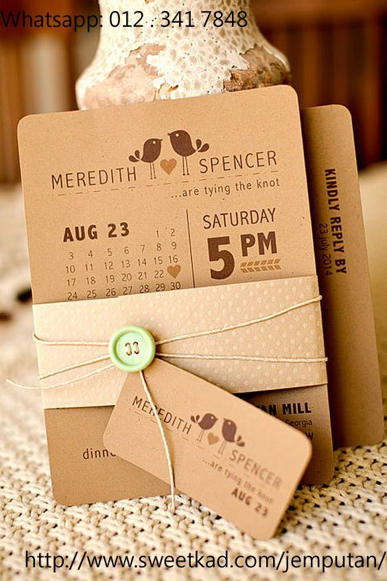 Sweet Kads Free Kadkahwin Online Makers Help You Easily Create Your Own Custom Unique Most Wedding Invitations Rustic Kraft Paper Wedding Wedding Invitations