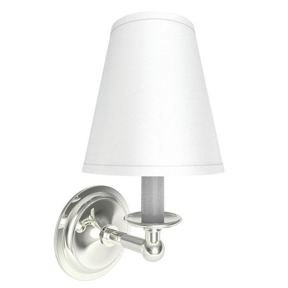 Images Of Ginger Single Light Wall Sconce from the London Terrace Collection Polished Nickel Indoor Lighting Bathroom